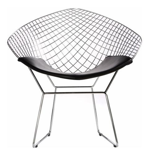 Cadeira Poltrona Bertoia Diamante - Cromada Original