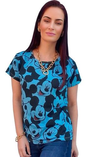 Kit Atacado 10 T-shirt Blusinha Feminina Personagens Mickey Original