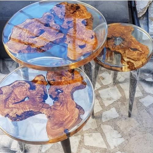 Resina Epoxi Cristal Baixa: Mesa Madeira River Table 7,10 Kg Original