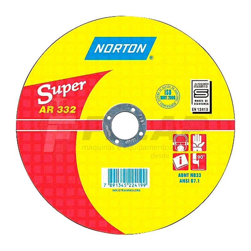 """Disco de Corte AR332 Norton 9 x 1/8 x 7/8"""""""