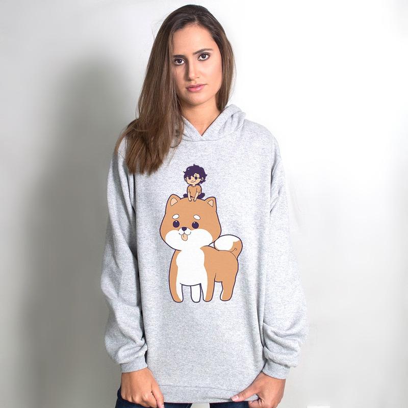 MOLETOM CINZA - DOG
