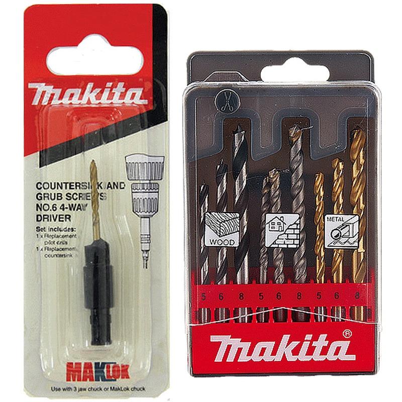 Furadeira de Alta Rotação 230W + GRÁTIS 1 Broca Escariadora 1 Kit 9 Brocas - M6501G - Makita