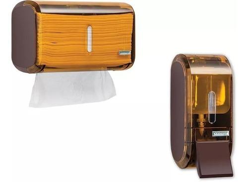 Conjunto Dispenser Papel Interfolha + Saboneteira Liquido Original