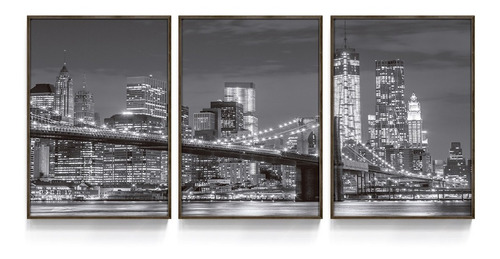 Quadro Decorativo Ponte New York Estados Unidos Quarto Sala Original