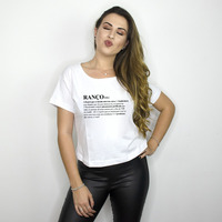 CROPPED BRANCO - RANÇO