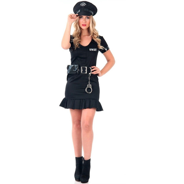 a82e8322f2 Fantasia De Policial Adulto Feminina Heat Girls Com Quepe em Santana ...