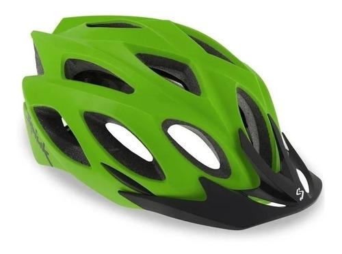 Capacete Spiuk Rhombus Verde Mtb Speed Nf Viseira Removível Original