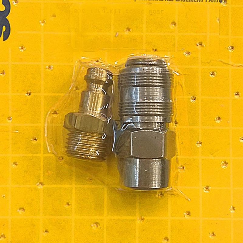 """Kit Pinador Pneumatico 18 GA com Óculos AF505N-P + Conector de Engate Rápido Macho com 1"""" Schulz"""