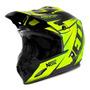 Capacete Motocross Th1 Amarelo Neon Jett Evolution