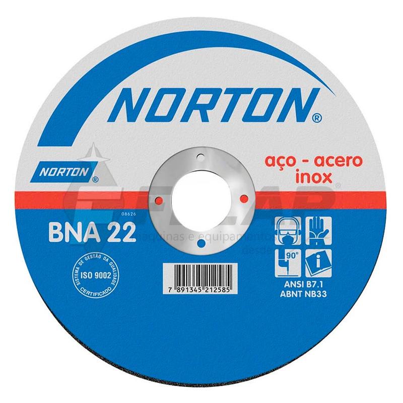 Disco de Corte BNA22 Norton 177,8 x 2,0 x 22,22mm
