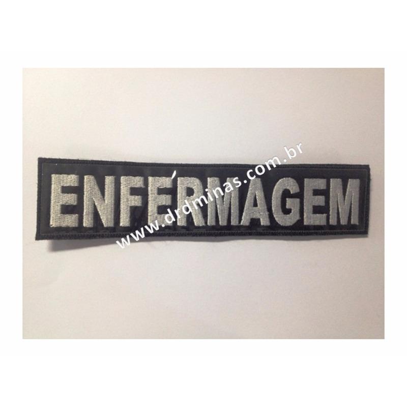 Etiqueta Bordado Enfermagem - U  15 x 5