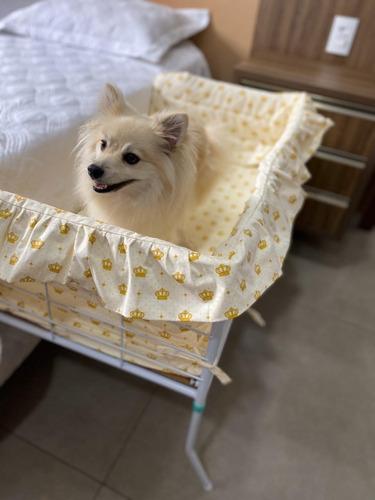 Mini Cama Pet Bercinho Dog Acoplada Com Enxoval Completo Original