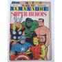 Almanaque Super heróis Marvel Na Onda 1969 Ebal Com Cartaz