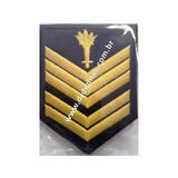 Divisa Braço 1º Sargento Bombeiro (azul esc) - Par