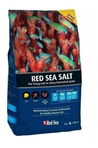 Red Sea Salt 4 Kg - Sal Aquário Marinho Redsea Original