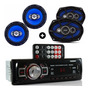 Kit Auto Radio Mp3 Bluetooth E Falante 6 E Falante 6x9 Pol