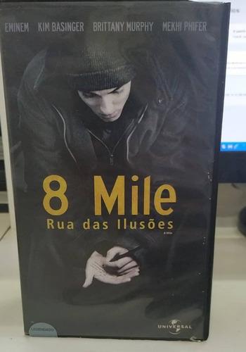 8 Mile Rua Das Ilusões - Vhs Original