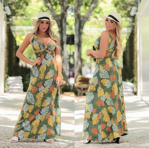 Vestido Longo Regata Estampado Cachequere Original