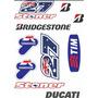 Adesivo Moto Gp Casey Stoner Ducati Cartela 21 X 30 Cm