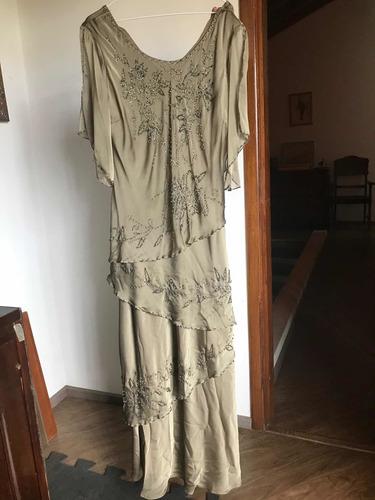 Vestido Longo Festa/casamento Plus Size Tam 52 Usado 1 Vez Original