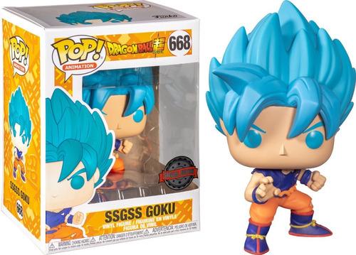 Boneco Funko Pop Dragon Ball Super Sayajin Goku Blue 668 Ani Original