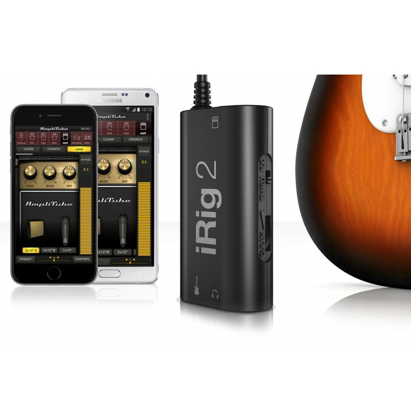 Interface de Áudio para Guitarra e Baixo iRig 2 Ik Multimedia Original