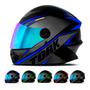 Capacete Para Moto Protork R8 Fechado Viseira Camaleão Loi