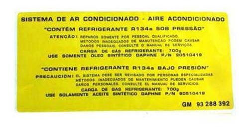 Etiqueta Sistema Condicionado Portugues E. Astra 1999 A 2011 Original