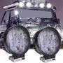 Kit 2 X Farol De Milha Led Redondo 27w 12v 24v Jeep Caminhão