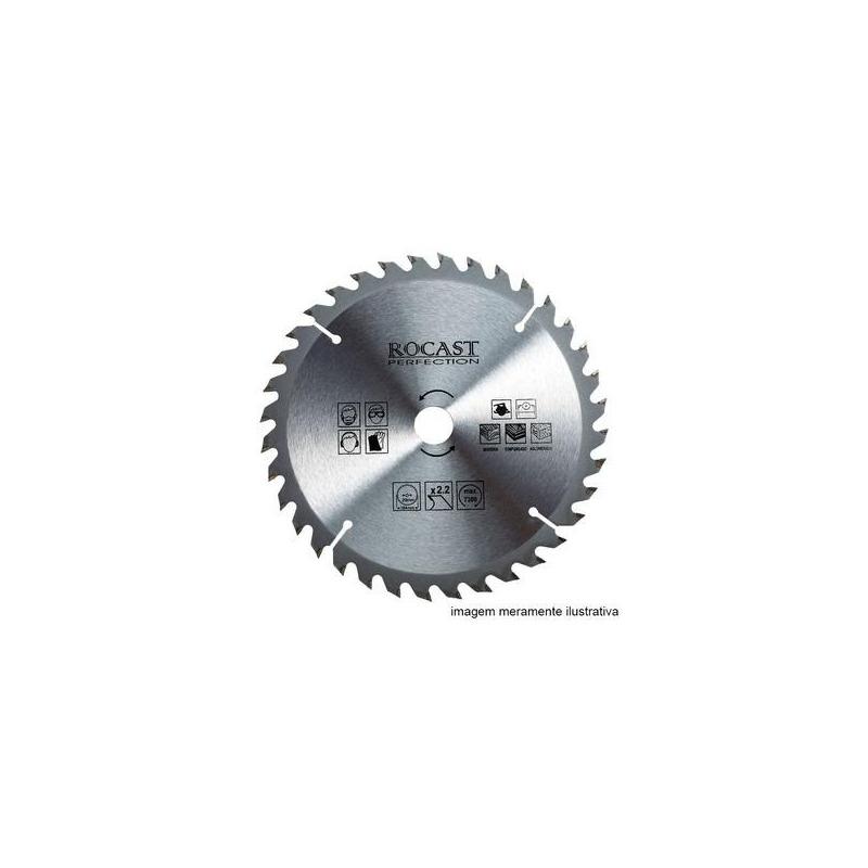Serra circular MD 4.3/8'' X 24D Furo 20MM-Rocast