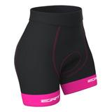 Bermuda Ciclismo Feminino Mtb Ert Forro Dual Pro Rosa