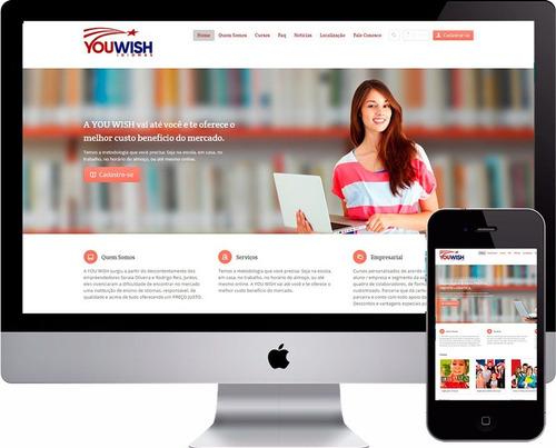 Site Escola Sistema Php Com E-learning Php+mysqlwordpress