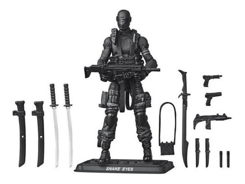 Boneco G.i Joe Retro Snake Eyes Hasbro E8857 Original