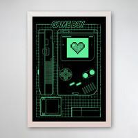 PÔSTER COM MOLDURA - LOVE GAME