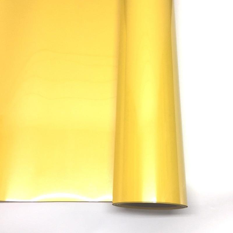 Filme para estampa - power film (pvc) larg. 0,50 m amarelo