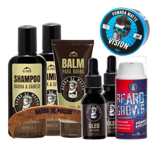 2 Shampoo 2 Óleo 1 Balm 1 Tonico 1 Pomada 1 Pente   Brinde Original