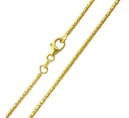 Corrente De Ouro Amarelo 18k Rabo De Rato 45 Cm / 0.16 Mm Original