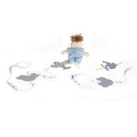 Pingente De Cortina Menino Azul (Par)