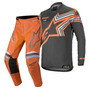 Calça/camisa kit Alpinestars Racer Braap 2020 Cinza/laranja