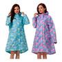 Capa De Chuva Poncho Feminino Vestido Casual Soft Polyester