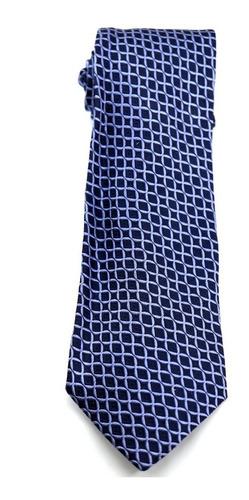 Gravata De Seda Pura Italiana Azul Noivo Padrinho B0330 Original