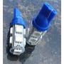 02 Lampadas Led Automotiva Auto Cor Azul Soquete T10 9 Leds