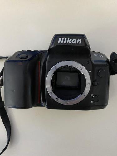 Câmera Fotográfica Analógica Nikon F70 Com Lente Original