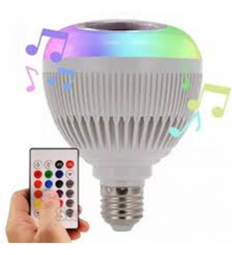 Lâmpada Luz Led Rgb Bluetooth Caixa Som + Controle Remoto Original