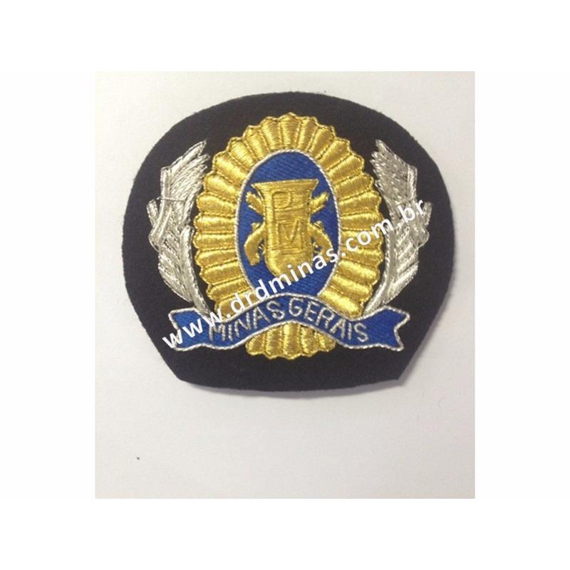 Florão bordado para Quepe Soldado/Cabo - PMMG