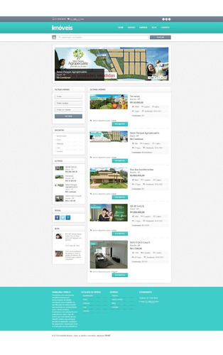 Sistema Script Site Imoveis Imobiliária Php 2014 Exclusivo Original