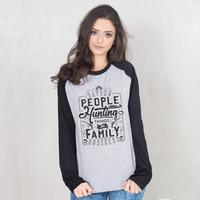 MANGA LONGA RAGLAN CINZA - THE FAMILY BUSINESS