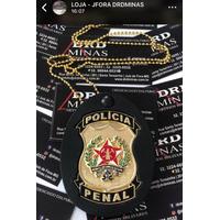 Brasao 3D - Distintivo - Cordao Policia PENAL