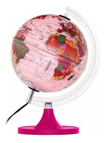 Globo Terrestre Político Mapa Mundi 21cm Bivolt Várias Cores Original