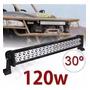 Led Light Bar Barra 40 Led 120w Carro Jeep Off Roud Promoção